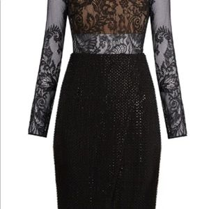 Self Portrait Lace and Beaded Evening Dress